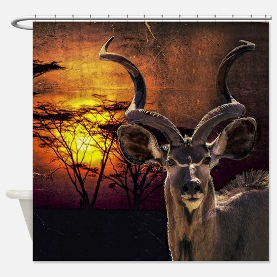 Antelope Sunset Shower Curtain