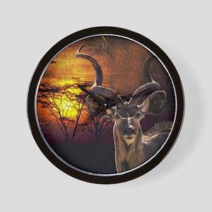 Antelope Sunset Wall Clock