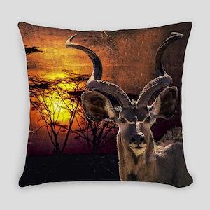 Antelope Sunset Everyday Pillow