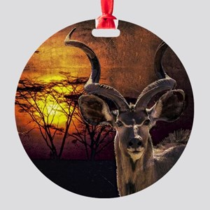 Antelope Sunset Round Ornament