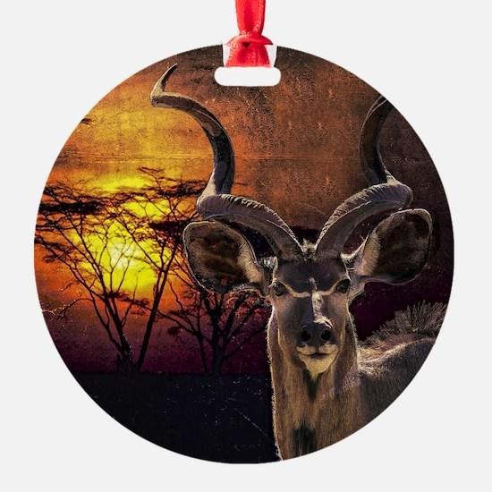 Antelope Sunset Ornament