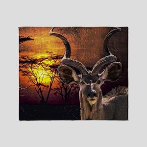 Antelope Sunset Throw Blanket