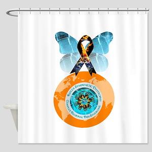 Color the World Orange CRPS Blazing Shower Curtain