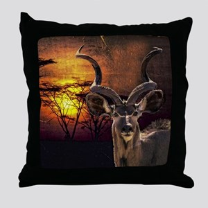Antelope Sunset Throw Pillow