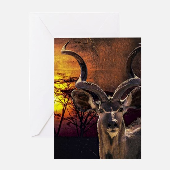 Antelope Sunset Greeting Cards
