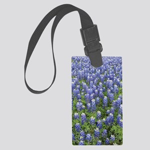 Field of Bluebonnets Large Luggage Tag