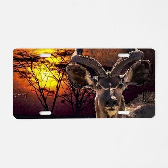 Antelope Sunset Aluminum License Plate