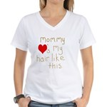 Mommy Loves It Women's V-Neck T-Shirt