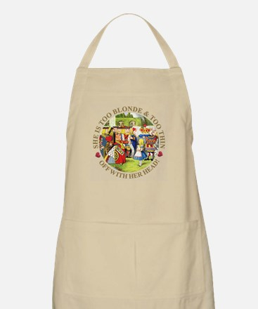She's Too Blonde & Too Thin! Off With Her He Apron
