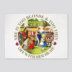 She's Too Blonde & Too Thin! Off Wi 5'x7'Area Rug