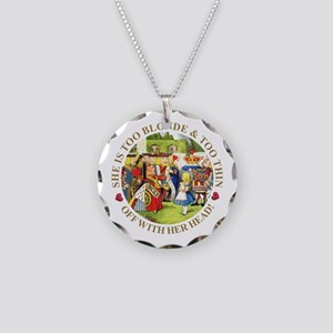 She's Too Blonde & Too Thin! Necklace Circle Charm