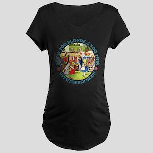 She's Too Blonde & Too Thin Maternity Dark T-Shirt