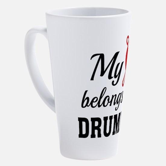 Cute I love my husband 17 oz Latte Mug