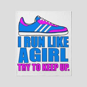 Run Like a Girl II Throw Blanket