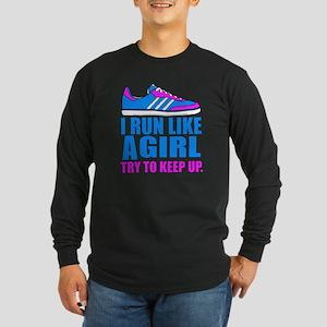 Run Like a Girl II Long Sleeve Dark T-Shirt