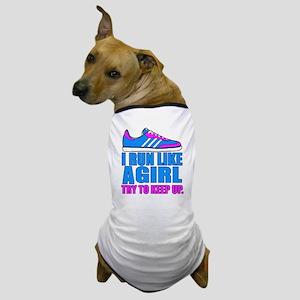 Run Like a Girl II Dog T-Shirt