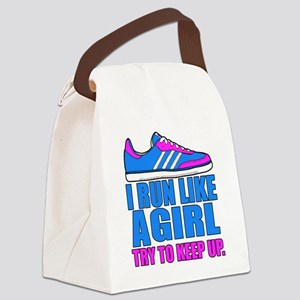 Run Like a Girl II Canvas Lunch Bag
