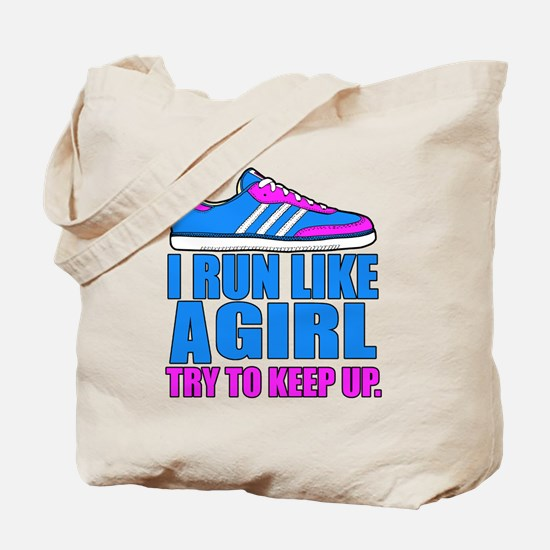 Run Like a Girl II Tote Bag