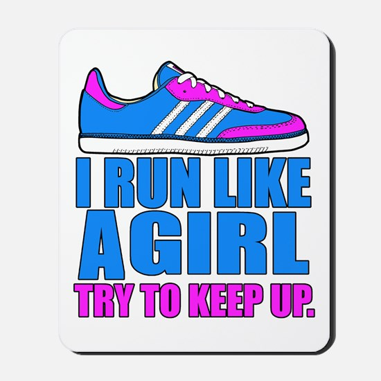 Run Like a Girl II Mousepad