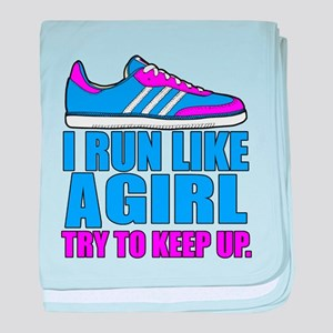Run Like a Girl II baby blanket