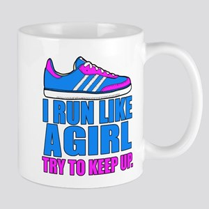 Run Like a Girl II Mugs