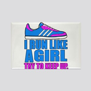 Run Like a Girl II Magnets