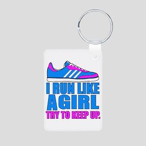 Run Like a Girl II Keychains