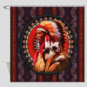 Lakota Chief Shower Curtain