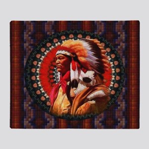 Lakota Chief Throw Blanket
