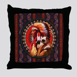 Lakota Chief Throw Pillow