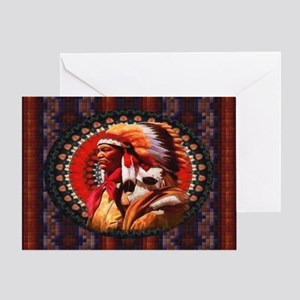 Lakota Chief Card Greeting Cards