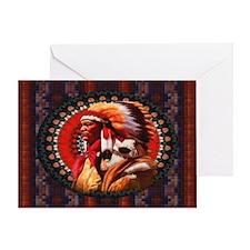 Lakota Chief Card Greeting Cards