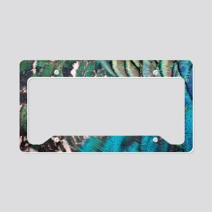 Bountiful Peafowl Feathers License Plate Holder