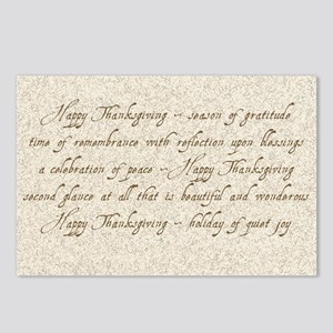 Thanksgiving greeting Postcards (Package of 8)