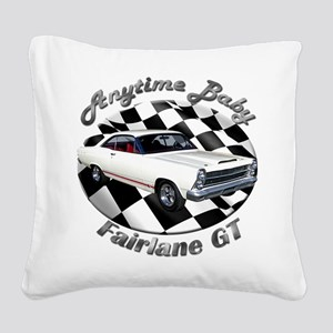 Ford Fairlane GT Square Canvas Pillow