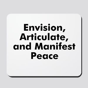 Envision, Articulate, and Man Mousepad