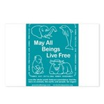animal_flag_final in color Postcards (Package of 8