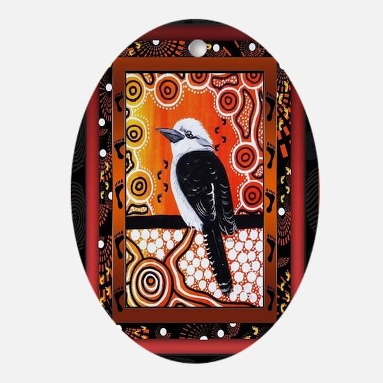 Kookaburra Dreaming  Oval Ornament