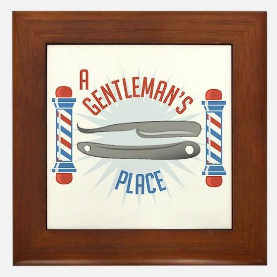 Gentlemans Place Framed Tile