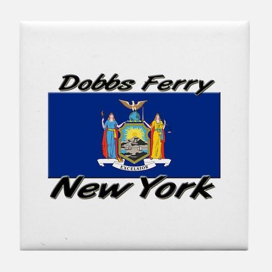 Dobbs Ferry New York Tile Coaster