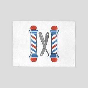 Barber Shop 5'x7'Area Rug