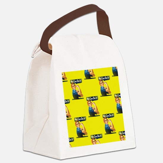 rosie the riveter Canvas Lunch Bag