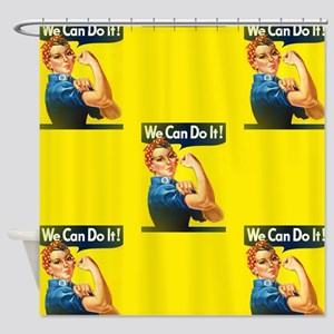 rosie the riveter Shower Curtain