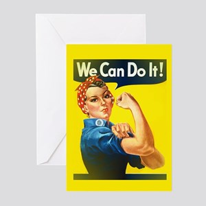 rosie the riveter Greeting Cards