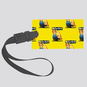 rosie the riveter Large Luggage Tag
