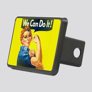 rosie the riveter Rectangular Hitch Cover