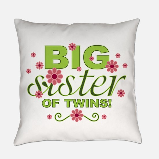 Big Sister of Twins Everyday Pillow