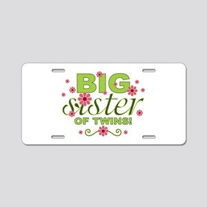 Big Sister of Twins Aluminum License Plate