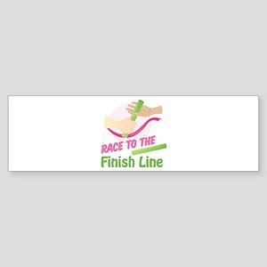 Finish Line Bumper Sticker