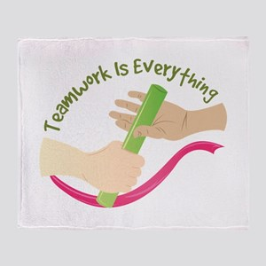 Teamwork Throw Blanket